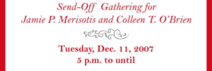 IHEP Holiday Gathering flyer designed by Kathleen E. Wilson | © 2007