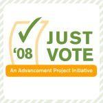 Advancement Project Just Vote '08 logo
