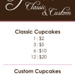 Cupcakes by Cynthia menu designed by Kathleen E. Wilson | © 2014