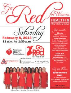 Go Red for Women flyer designed by Kathleen E. Wilson | 2014